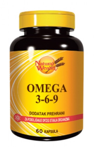 natural wealth omega 3-6-9 60 kapsula