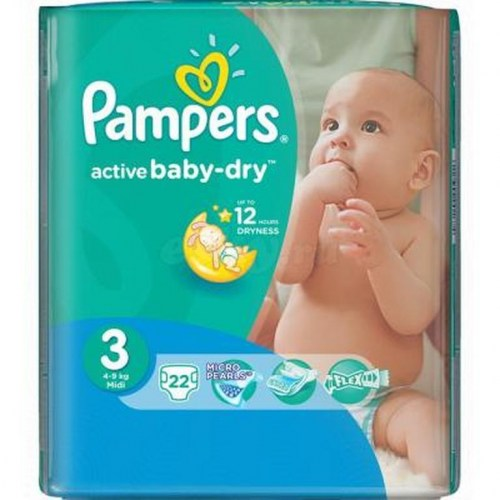 Pampers active baby 3, 22 kom