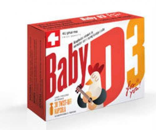 Baby D3 vitamin twist off kapsule