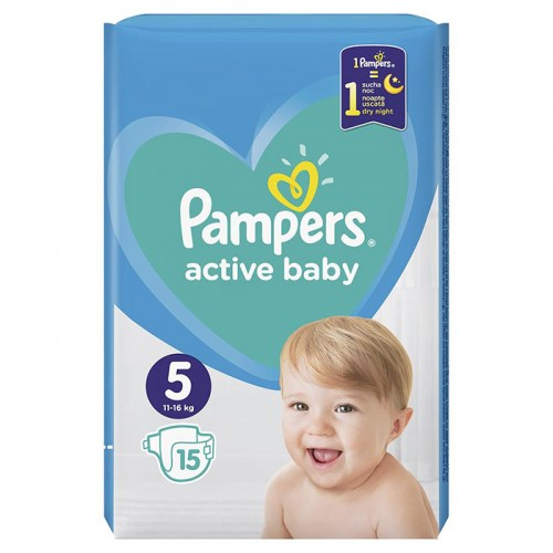 Pampers active baby 5, 15 kom