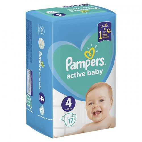 Pampers active baby 4, 17 kom