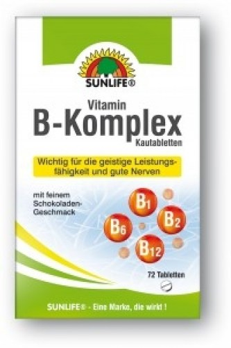 sunlife vitamin b complex 72 tablete