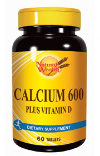 natural wealth kalcijum 600+vitamin d 60 tableta