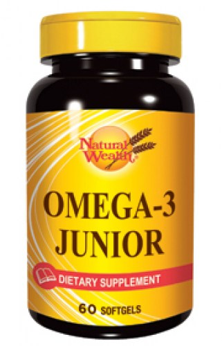 natural wealth omega-3 junior 60 kapsula