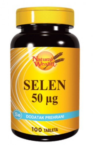 natural wealth selen 50mcg 100 tableta