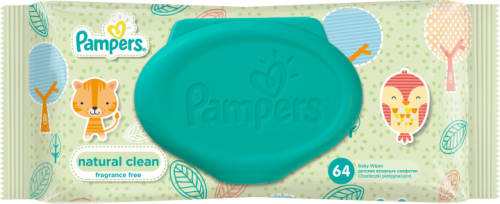 pampers natural clean vlazne maramice