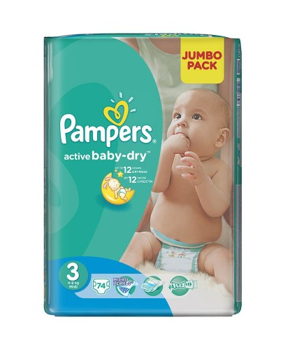 Pampers active baby 3, 74 kom