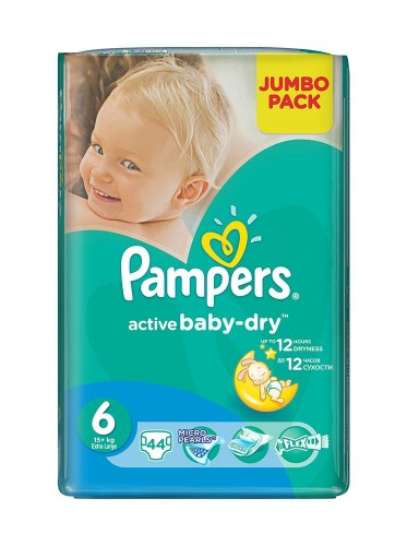 Pampers active baby 6, 44 kom